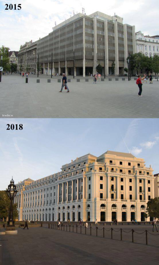 Hungarians are rebuilding their beautiful traditional architecture which was torn down by the Communists.