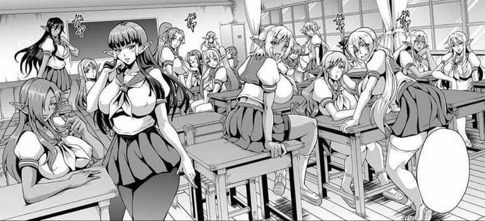 Uhmm am I step in wrong class (Elf Harem Academia )
