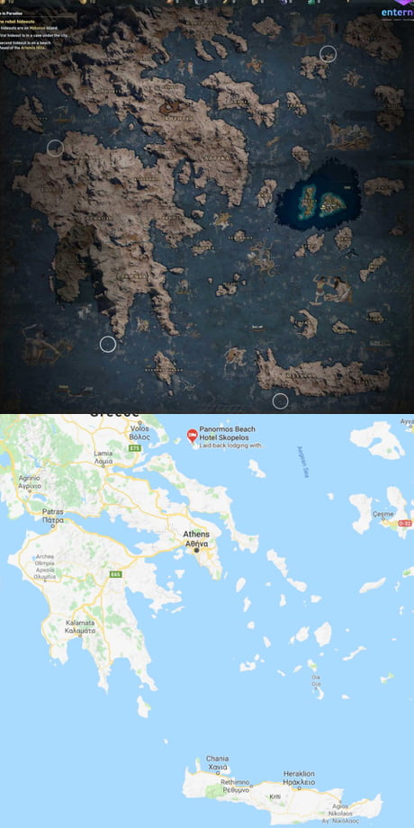 assassins creed odyssey 2 map size