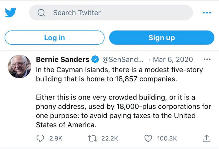 Darkest Comedy !! Bernie Explaining Cayman Islands In Simple Terms