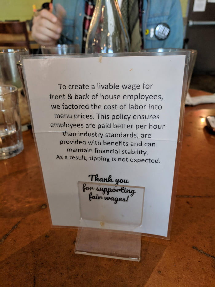 If only more restaurants followed their example - Austin, TX