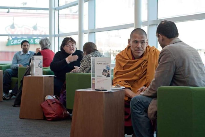 In Denmark, there are libraries where you can borrow a person instead of a book to listen to their life story for 30 minutes. The aim is to fight against prejudices.