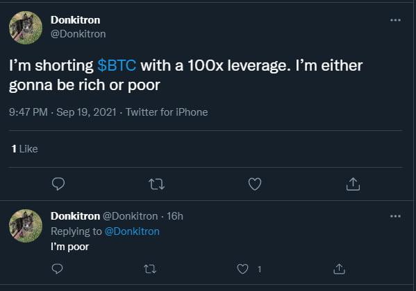 A tragic tale told in 2 tweets