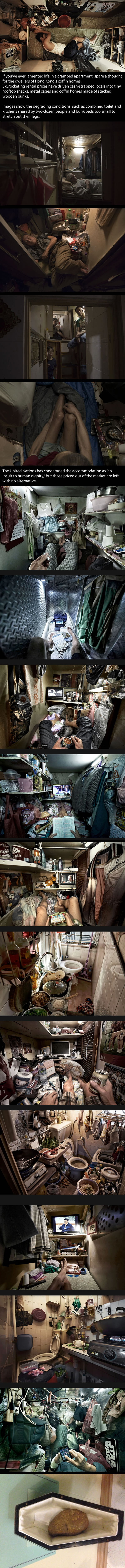 Life Inside The Suffocating Coffin Homes Of Hong Kong In Pictures
