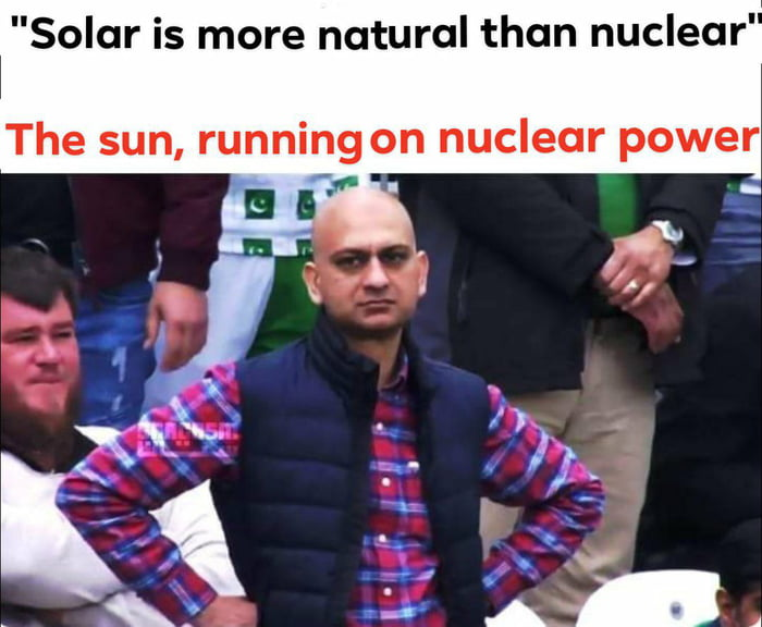 99.999999% of energy in nature is nuclear
