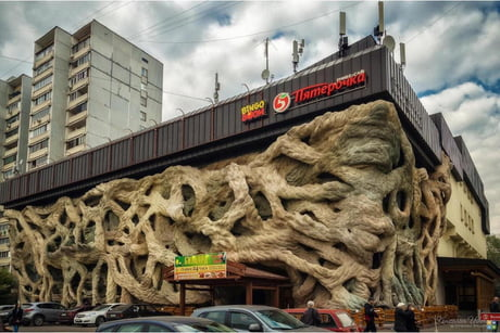 A normal grocery store in Moscow
