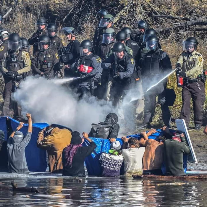 This is what happened when Native Americans tried to protect their water from an illegal pipeline. Remember it today.