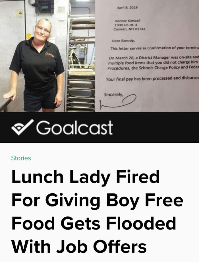 """The Lady : """"To me, letting that kid go hungry... that would have been wrong"""". Incidents like these make me believe humanity still exists!"""