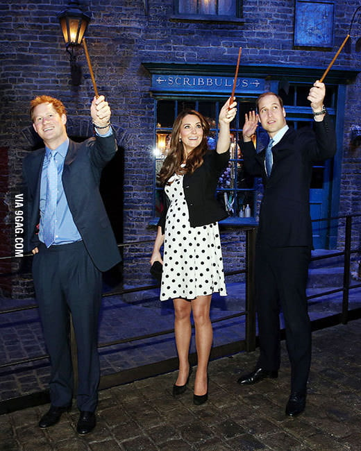 The Royal Hogwarts Trio
