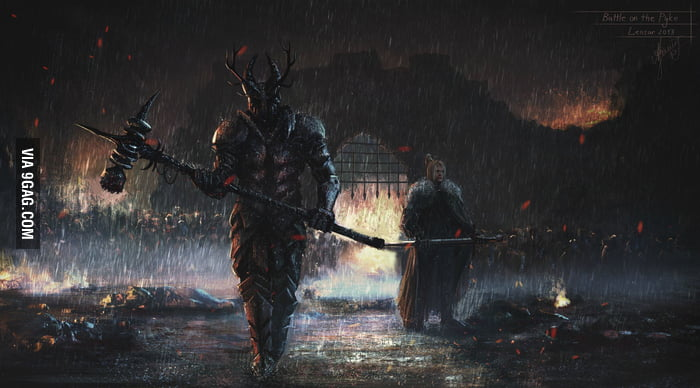 Robert Baratheon & Ned Stark at the Battle of Pyke