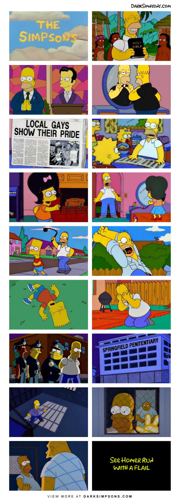 Homer: I'm not gay, but I'll learn.