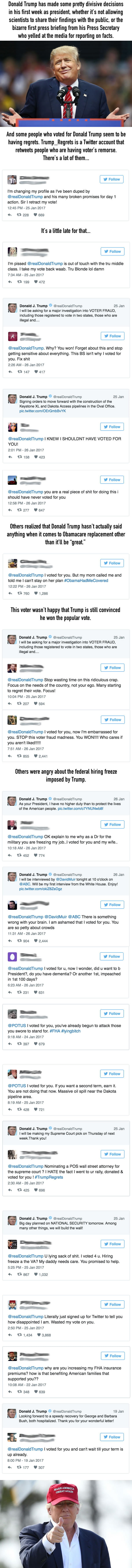 Twitter Is Full Of Trump Voters Who Regret Their Decision And It's Bittersweet