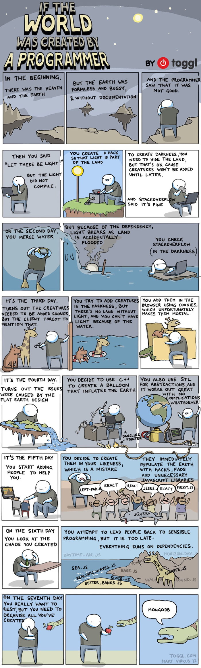 If The World Was Created By A Programmer [Comic]