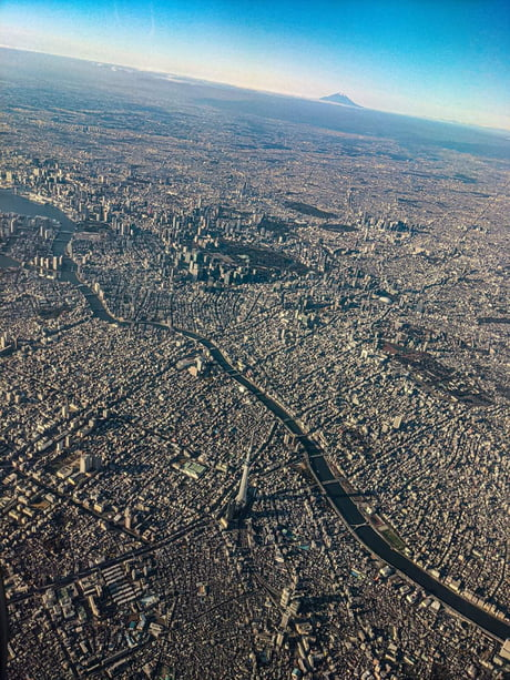 This is what Tokyo, the largest city on Earth, looks like from a plane.