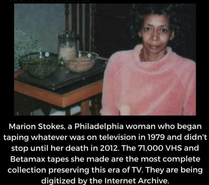 Marion Stokes.