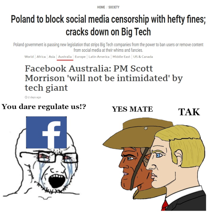 Meanwhile in US the big tech can censor even the president