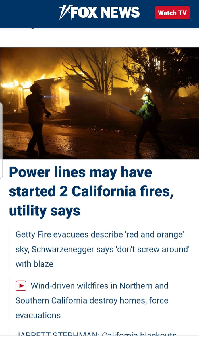 California have the strictest environmental laws, yet they have frequent fires. It's because they don't trim trees and clear brushes. Rolling blackouts is not enough. Shut the entire grid down indefinitely. It's obvious you can't take care of your own.