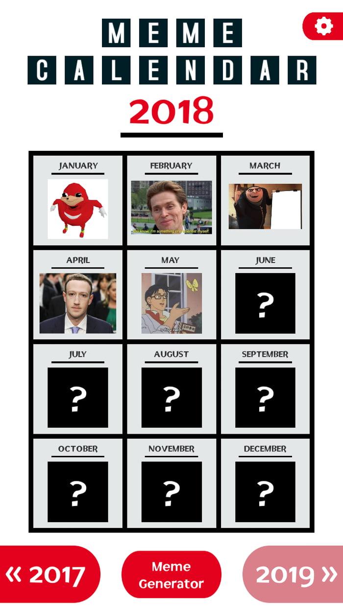May in Meme Calendar app!