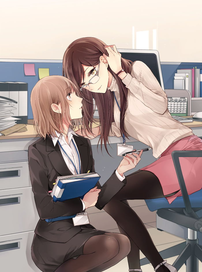 Office lady's working