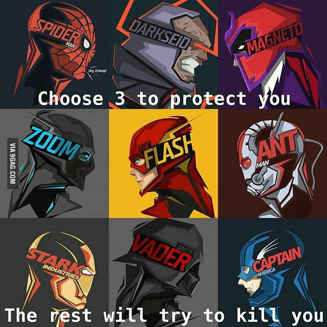Choose 3 to protect you, the rest will try to kill you