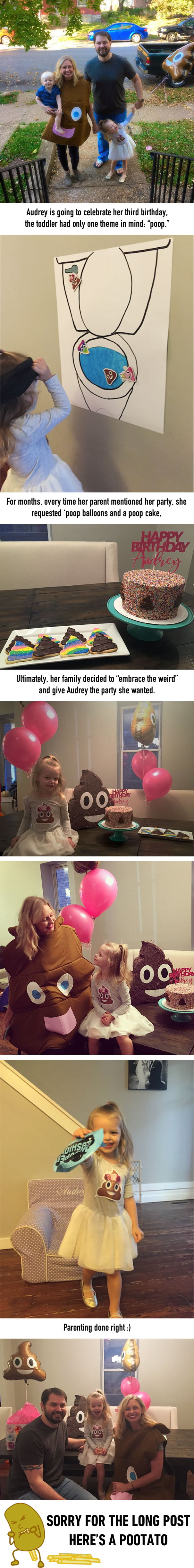 This Little Girl Wanted A Poop-Themed Birthday Party, So Her Parents Threw Her One