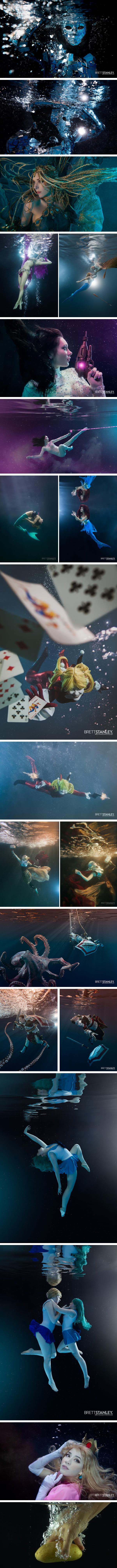 Cosplayers Team Up With Underwater Photographer To Create Dreamlike Images