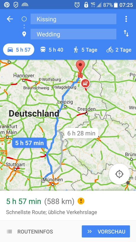 Only in Germany you can go from Kissing to wedding in nearly 6 hours