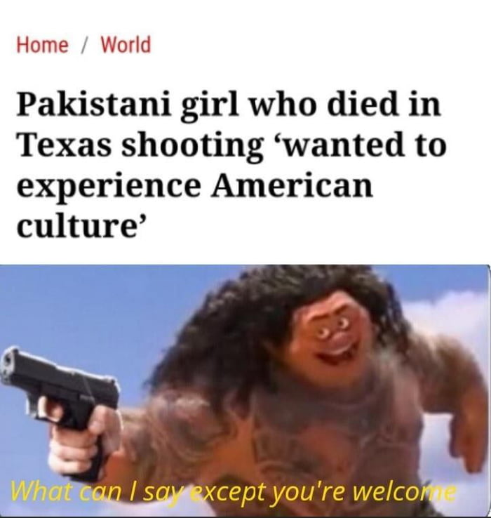Well ig she now knows that it's same as in Pakistan
