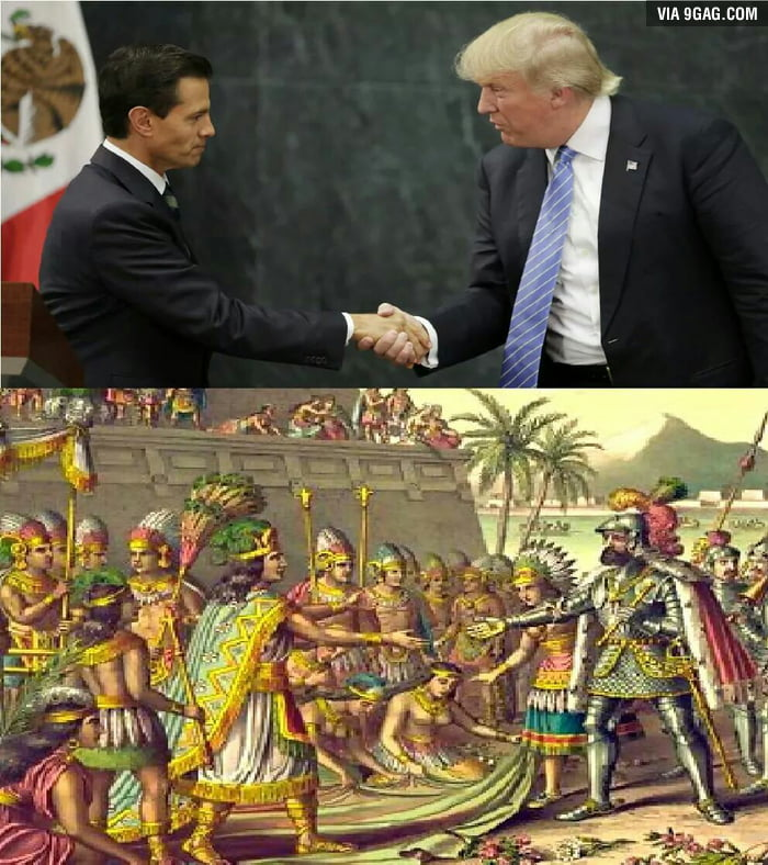 So Trump visited México...it relates