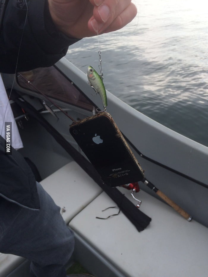 Caught an iPhone in deep water