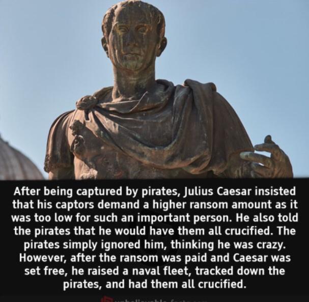 Julius Caesar a man of his words