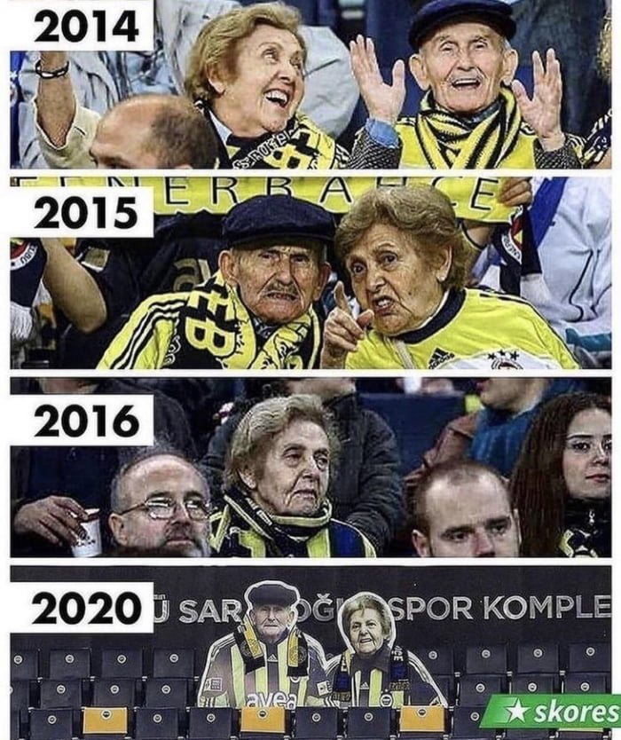 Fenerbahce honoring two of their most loyal fans