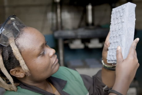 Nzambi Matee of Kenya finds a way to recycle plastic waste into bricks that are stronger than concrete.