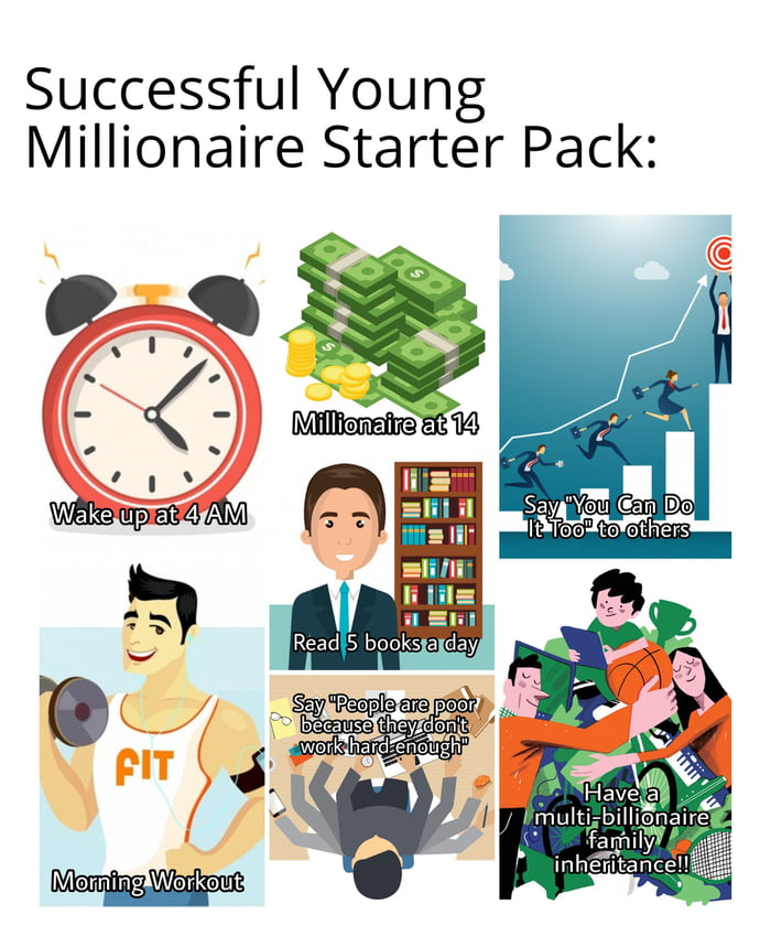 How to be a young millionaire!