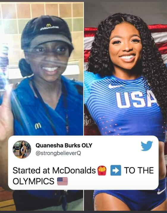Quanesha Burks - from McDonalds to the Tokyo Olympics in Long Jump!!