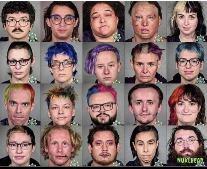 Mugshots of people arrested for rioting - Portland / Seattle