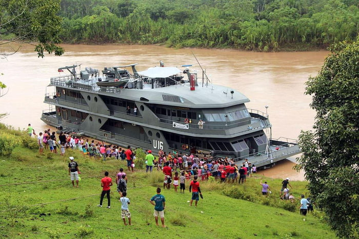 Brazil maintains a fleet of hospital ships that dock at riverside villages and treat the locals for free.