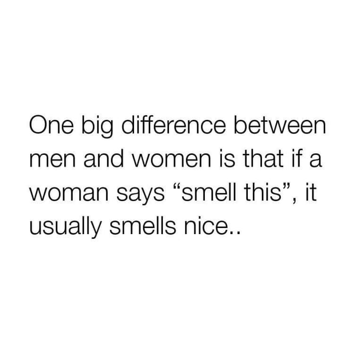 The difference between men and women...