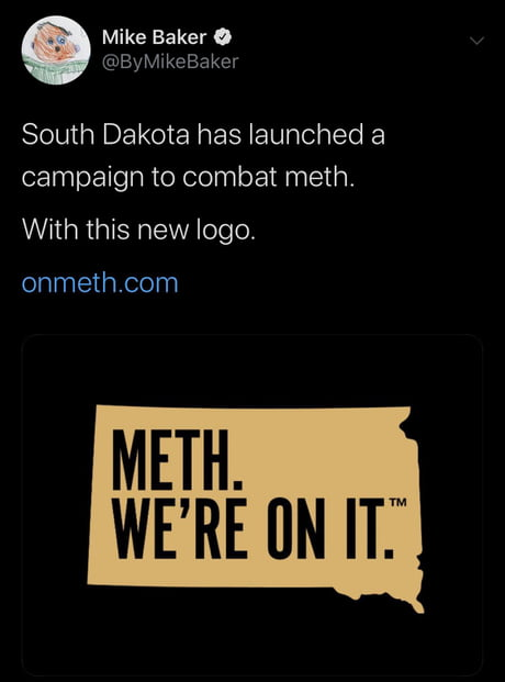 South Dakota launches anti meth PR campaign. (The state spend $450k to come up with this logo! No joke) 1