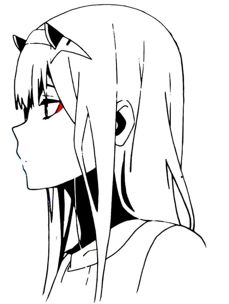 Zero Two Black And White 9gag