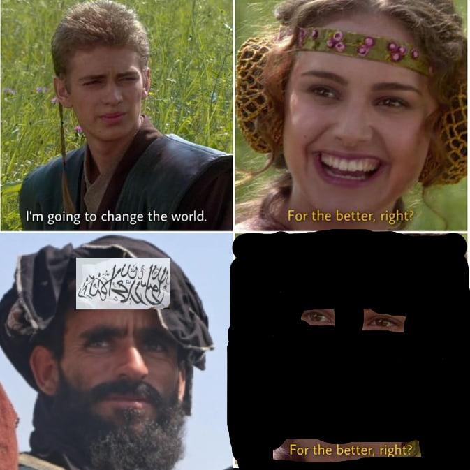 Unfortunate meme created for women in Afghanistan