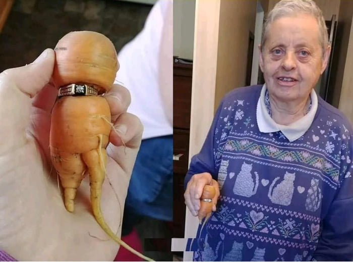 This woman found her lost ring 13 years later when a carrot in her garden grew into it
