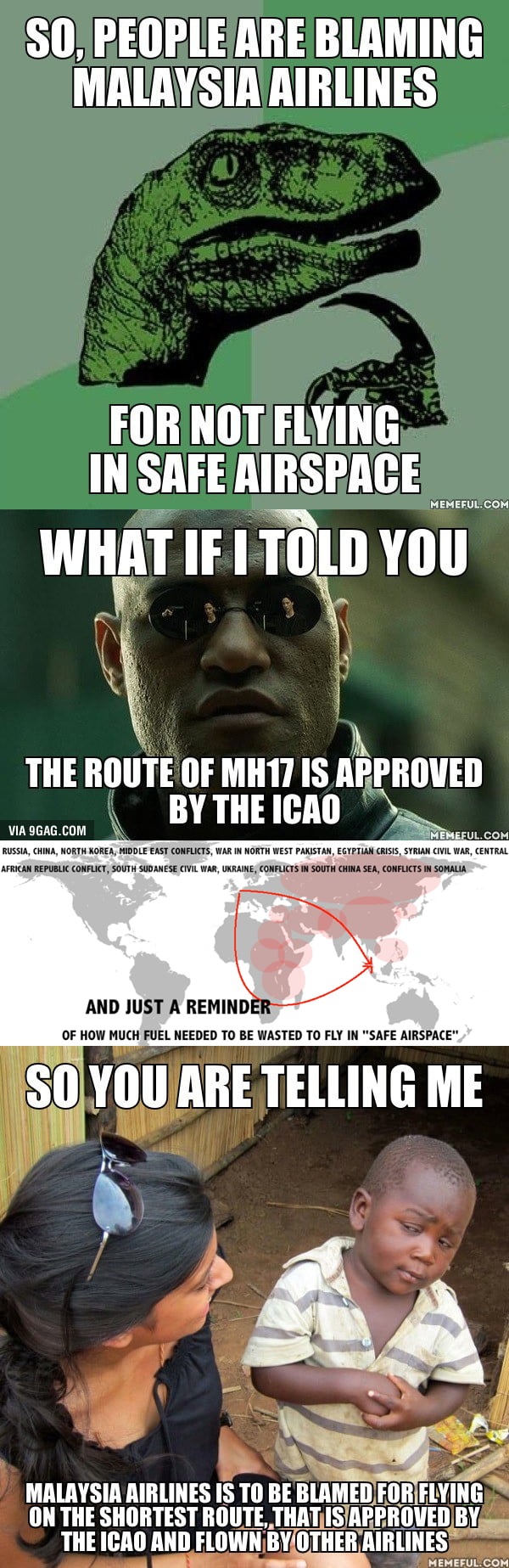 My thoughts when people blames MH17 for flying above Ukraine as if Malaysia Airlines has done something wrong