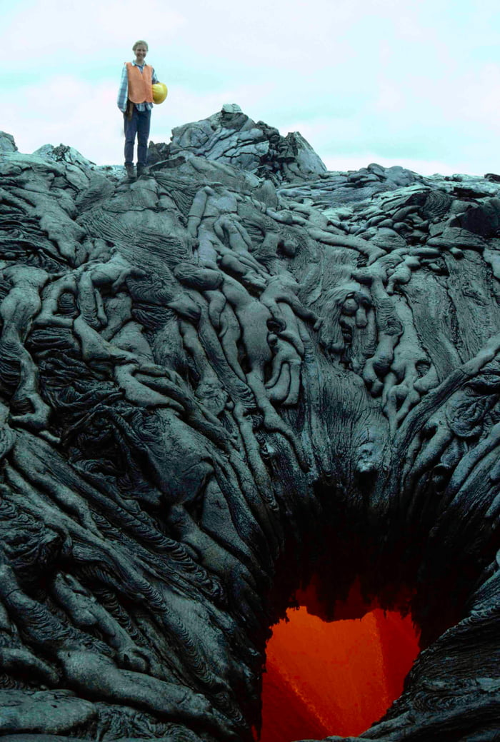 This picture of cooled lava resembles bodies entering the pits of Hell