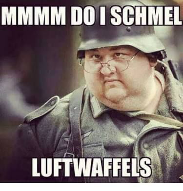 When you love waffles but you also love the fùhrer