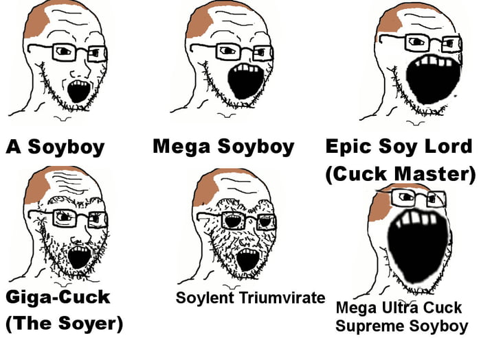 There are several evolutionary states of a soy boy!