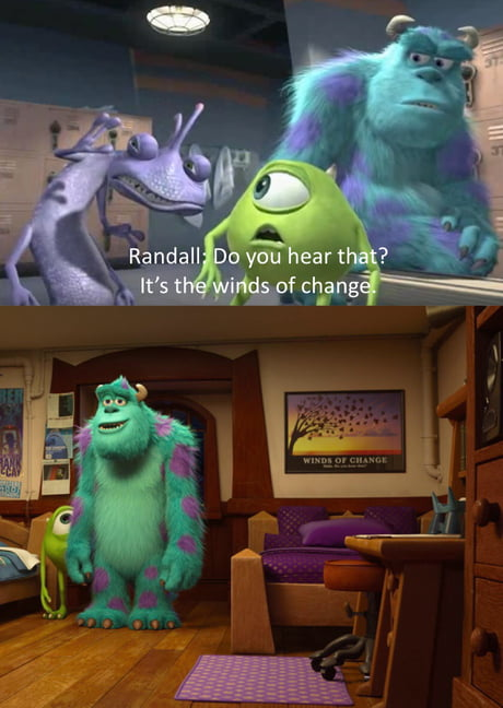 In Monsters University 2013 You Can See A Poster Above Randall S Bed That Shows Where He
