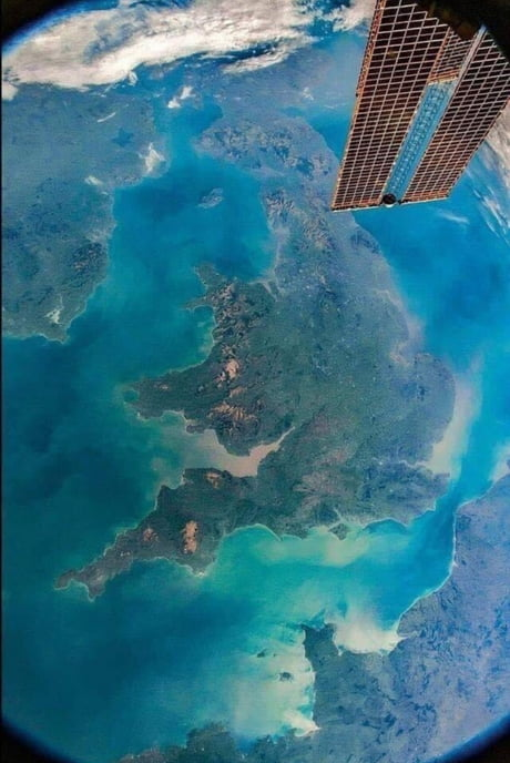 Awesome View of UK from the ISS