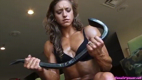 Strong girl in action!