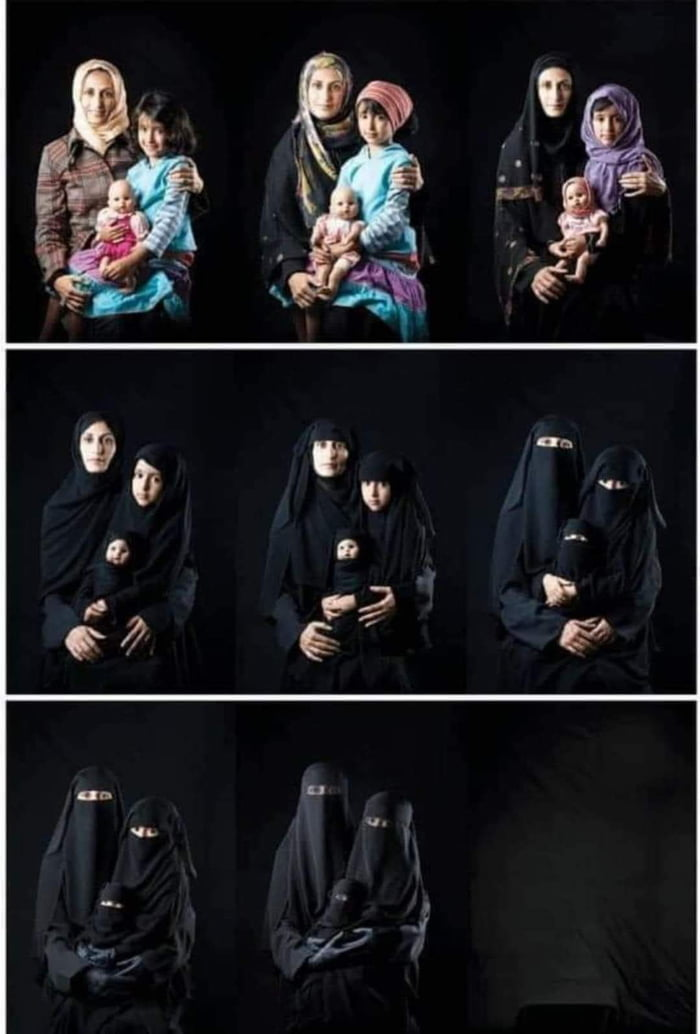 """""""The disappearance of women"""". Work of an iranian photographer."""